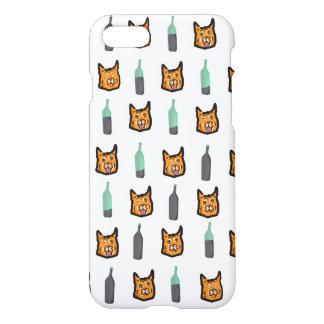 Wine Cat Never Alone Iphone 7 Case