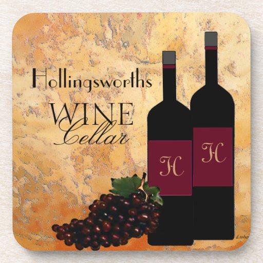 Wine Cellar-Personalized Beverage Coaster