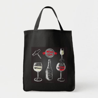 Wine Chalkboard Design tote bag