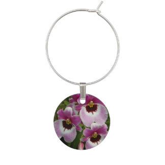 Wine Charm - Pansy Orchid