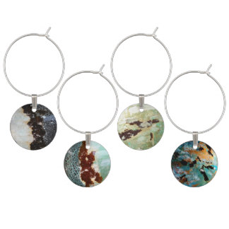 Wine charms -organic textures