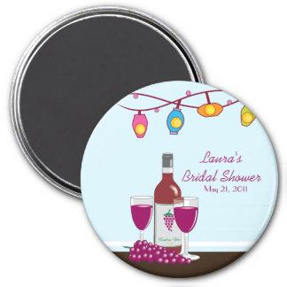 Wine & Cheese Bridal Shower Custom Magnet Favor