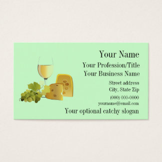 Wine & Cheese Design Business Card