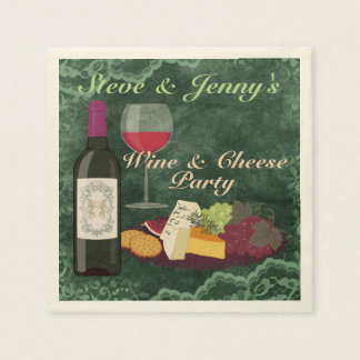 Wine & Cheese Party Paper Serviettes