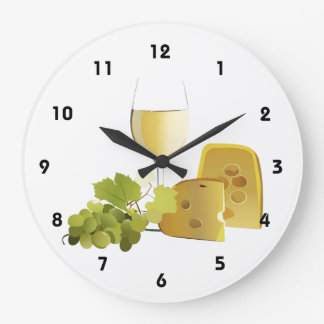 Wine & Cheese Wall Clock