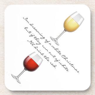 Wine Christmas Cork Coaster Set