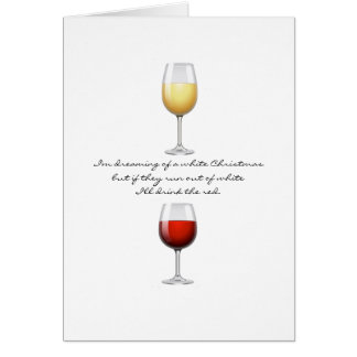 Wine Christmas Greeting Card