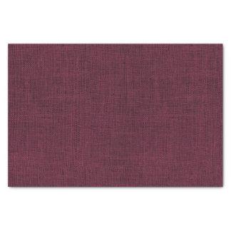 Wine Colored Burlap Texture Tissue Paper