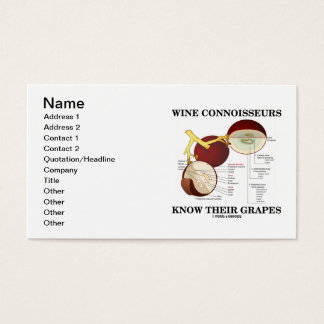 Wine Connoisseurs Know Their Grapes (Anatomy) Business Card