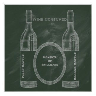 Wine Consumed Pub Chalk Collection by M.A Poster