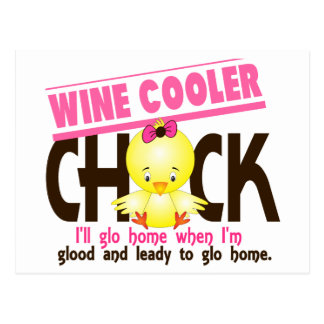 Wine Cooler Chick Postcard