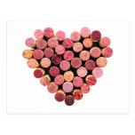 Wine Cork Heart Postcard