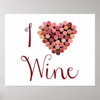 Wine Cork Heart Poster