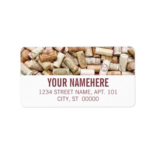 Wine Corks Address Label