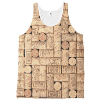 Wine Corks All-Over Print Singlet