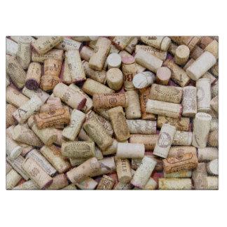 Wine Corks Glass Cutting Board