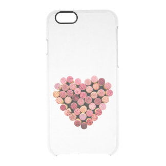 Wine Corks Heart iPhone 6 Clear Case