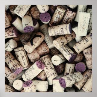 Wine Corks kitchen poster
