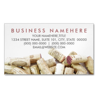 Wine Corks Magnetic Business Cards