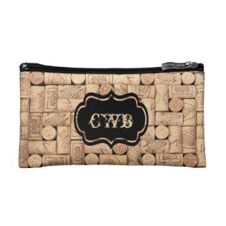 Wine Corks Monogrammed Bag
