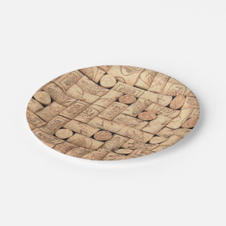 Wine Corks Paper Plates 7 Inch Paper Plate