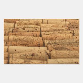 Wine Corks Rectangular Sticker