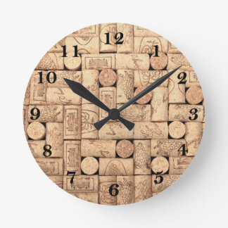 Wine Corks Round Clock