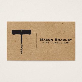 Wine   Corkscrew (natural) Business Card