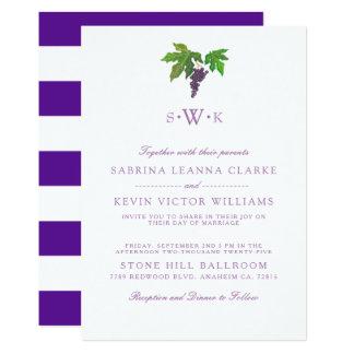 Wine Country Grape | Wedding Invitation