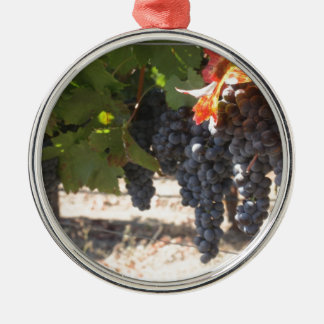 Wine Country Grapes Metal Ornament