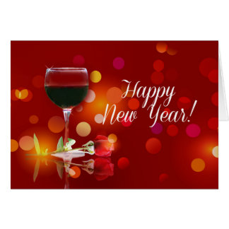 Wine Country Happy New Year Greeting Card