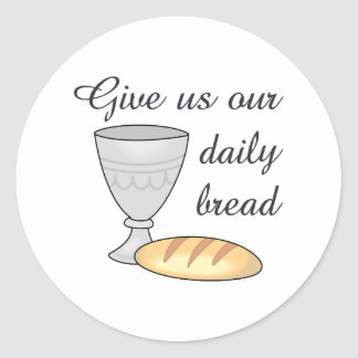 WINE DAILY BREAD CLASSIC ROUND STICKER