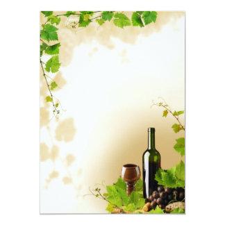 Wine design invitation