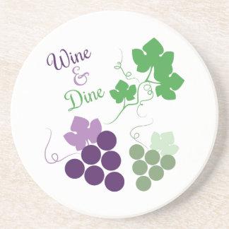 Wine & Dine Drink Coaster