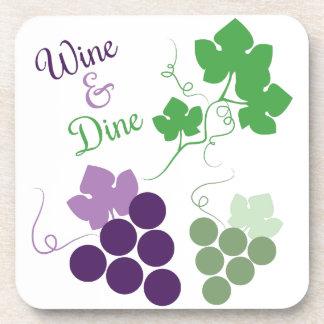 Wine & Dine Beverage Coasters