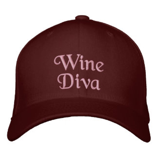 Wine Diva Embroidered Hat