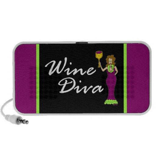 Wine Diva Fabulously Dark iPod Speakers
