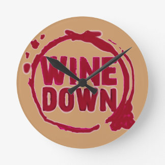 """WINE DOWN"" WINE STAIN PRINT CLOCK"