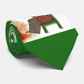 wine drinker print tie