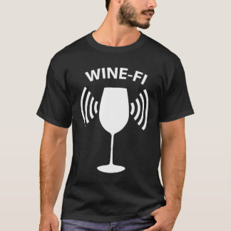 Wine-Fi Wine Drinking Party Glass Funny T-Shirt