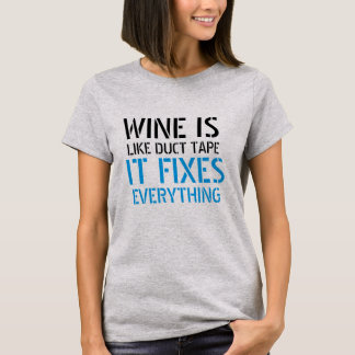 wine fixes everything funny t-shirt design drink