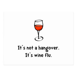 Wine Flu Postcard