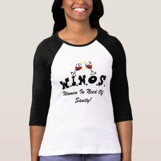 Wine For Sanity! Black T-Shirt