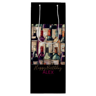 Wine Gift Bag-Wine Lovers Happy Birthday Wine Gift Bag