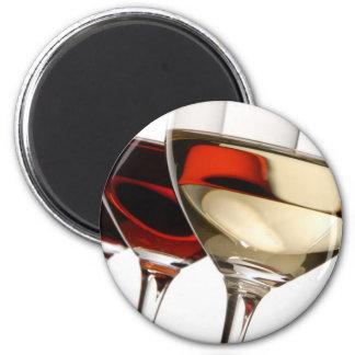 Wine Glass 6 Cm Round Magnet