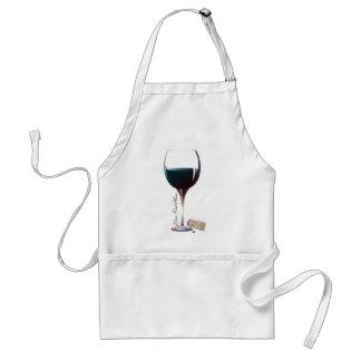 Wine Glass Art Personalised Logo Aprons