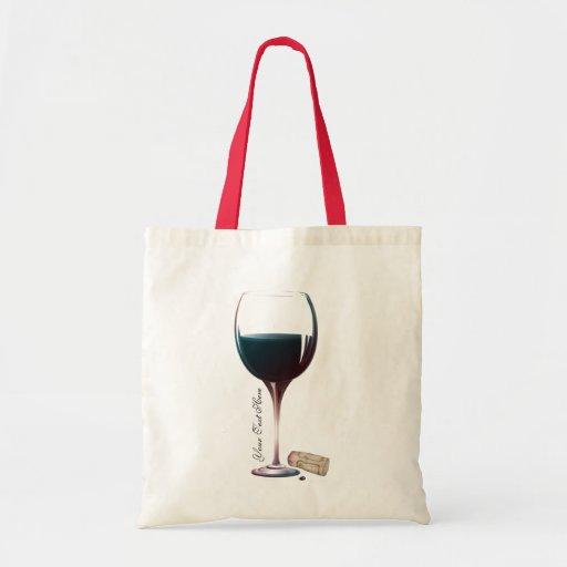 Wine Glass Art Personalised Logo Canvas Bag