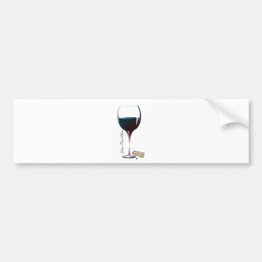Wine Glass Art Personalised Logo Bumper Sticker