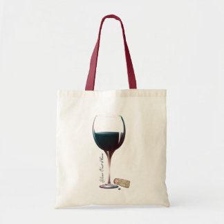 Wine Glass Art Personalised Logo Canvas Bag
