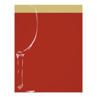 Wine glass background 21.5 cm x 28 cm flyer